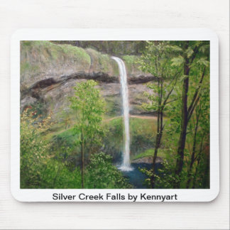 Silver Falls by Kennyart Mouse Pad