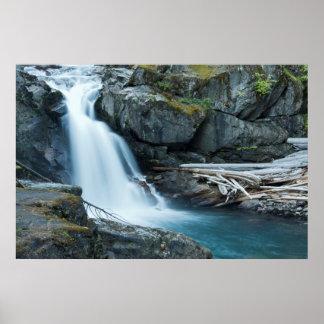 Silver Falls, Mount Rainier National Park Poster