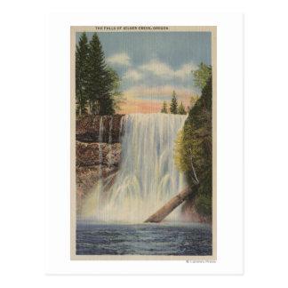 Silver Falls on Silver Creek, Oregon View Postcard