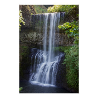 Silver Falls Oregon Middle Falls Full View Poster