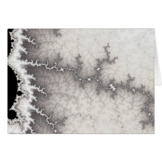 Silver Fault Line Greetings Card