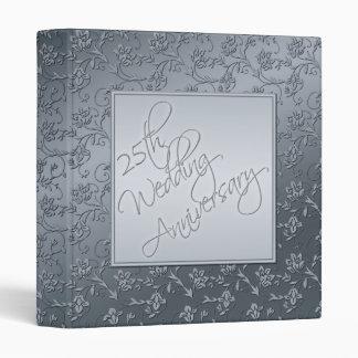 Silver FAUX Glitter 25th Anniversary BINDER/Album Binder