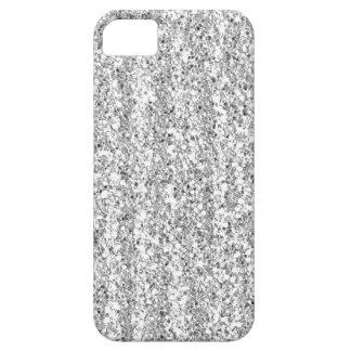 Silver Faux Glitter Case-Mate iPhone 5 Case