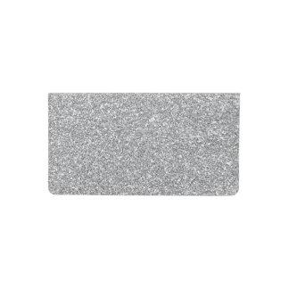 silver faux glitter checkbook cover