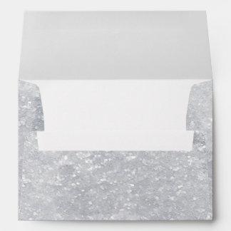 Silver Faux Glitter Design Envelope
