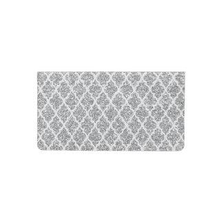 silver faux glitter quatrefoil checkbook cover