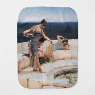 Silver Favorites by Lawrence Alma-Tadema Burp Cloth