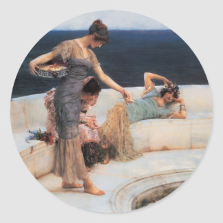 Silver Favorites by Lawrence Alma-Tadema Classic Round Sticker