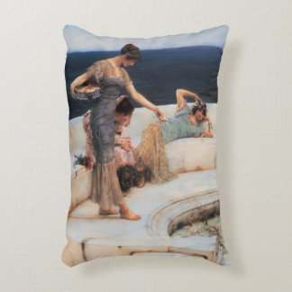 Silver Favorites by Lawrence Alma-Tadema Decorative Pillow