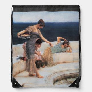 Silver Favorites by Lawrence Alma-Tadema Drawstring Bag