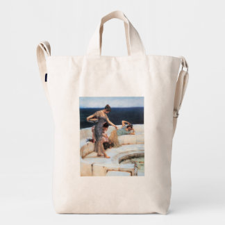 Silver Favorites by Lawrence Alma-Tadema Duck Bag