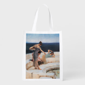 Silver Favorites by Lawrence Alma-Tadema Grocery Bag