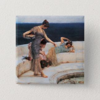 Silver Favorites by Lawrence Alma-Tadema Pinback Button