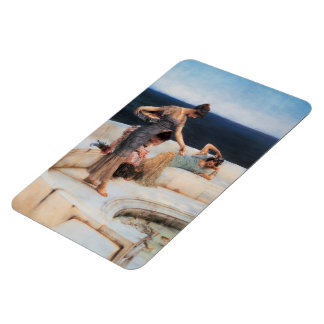 Silver Favorites by Lawrence Alma-Tadema Rectangular Photo Magnet