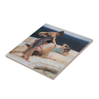 Silver Favorites by Lawrence Alma-Tadema Tile