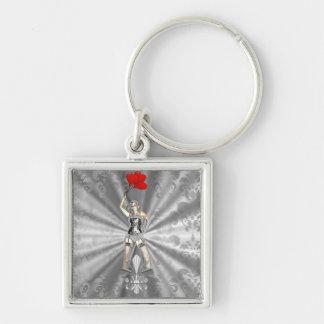 Silver female keychain