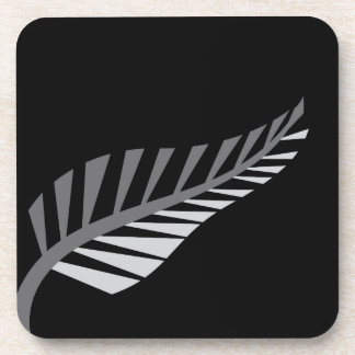 Silver Fern Awesome New Zealand image Beverage Coasters