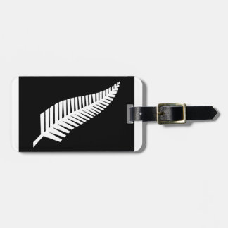 Silver Fern Flag of New Zealand Bag Tag