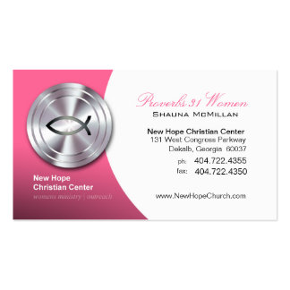 Silver Fish IXOYE Christian Symbol Minister/Pastor Business Card