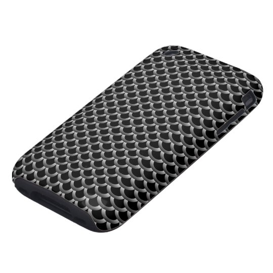 Silver Fish Scale Pattern Design Tough iPhone 3 Case