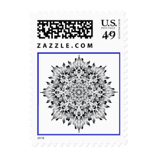 Silver Flame Postage Stamps