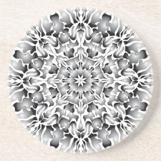 Silver Flame Sandstone Coaster