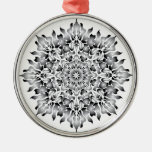 Silver Flame Snowflake Ornament