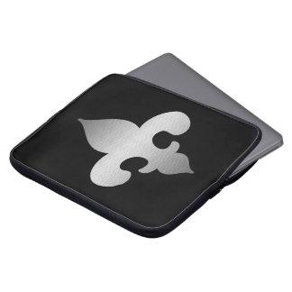 Silver Fleur de Lis Laptop Sleeve