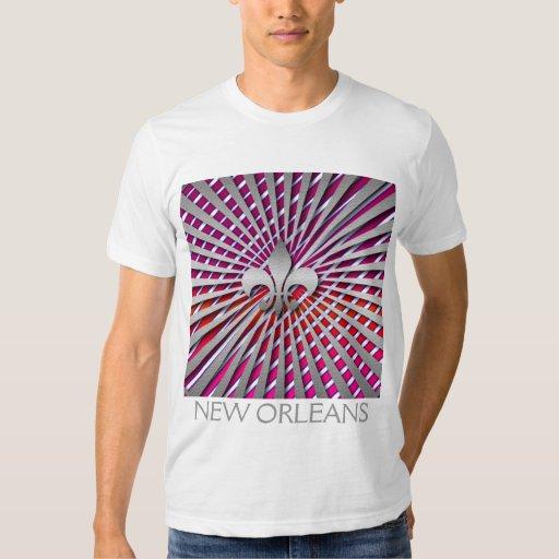 Silver fleur de lis Pattern    Design  T-shirt