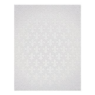 Silver fleur de lis pattern elegant letterhead
