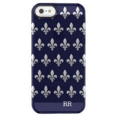 Silver Fleur De Lys Floral Pattern Clear Iphone Se/5/5s Case at Zazzle