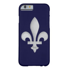 Silver Fleur-de-lys On Iphone 6 Case at Zazzle