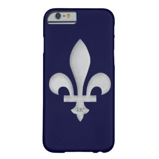 Silver Fleur-de-Lys on iPhone 6 Case