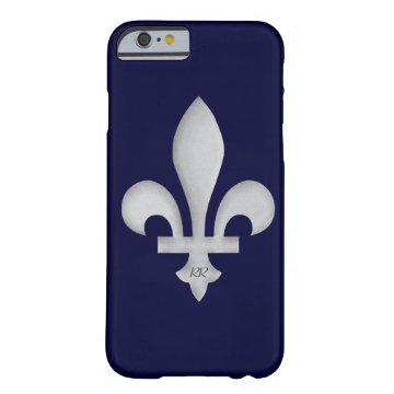 Silver Fleur-de-Lys on iPhone 6 Case at Zazzle
