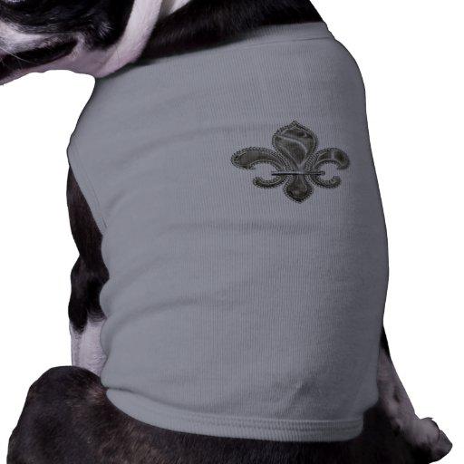 Silver  Fleur de Lys Pet Clothing