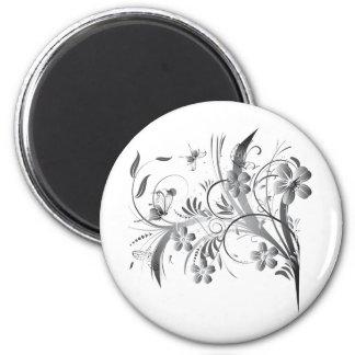 Silver Floral Magnet