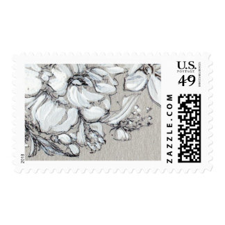 Silver Floral Stamp