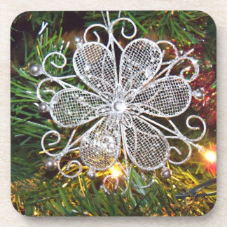Silver Flower Coasters