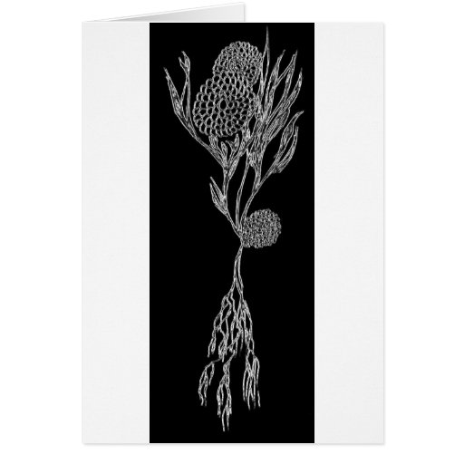 Silver flower love card