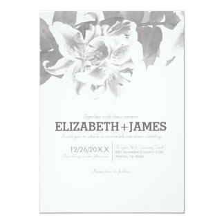 Silver Flower Wedding Invitations Invitation