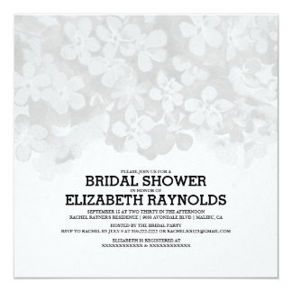 Silver Flowers Bridal Shower Invitations Personalized Announcements