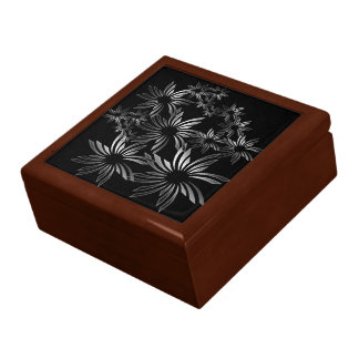 Silver Flowers Keepsake Box