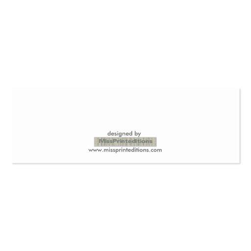 Silver Flute Business Card (back side)