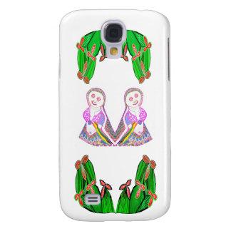 SILVER foil Cactus - Green Theme Galaxy S4 Cover