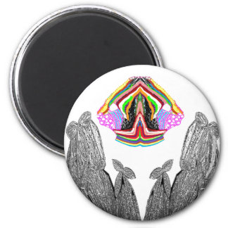 SILVER foil Cactus  -  Green Theme Fridge Magnet