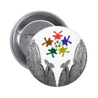 SILVER foil Cactus  -  Green Theme Pinback Button