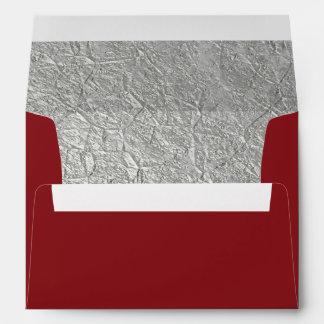 Silver Foil Decorative Inside Lined Envelope