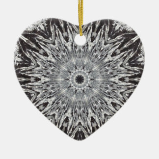 Silver Foil Heart Christmas Ornament