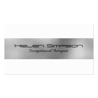 Silver foil inspired Business Cards