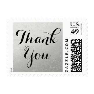 Silver Foil | Wedding Thank You Stamp